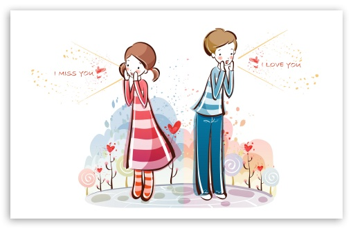 Download I Love You, Valentine's Day Illustration UltraHD Wallpaper