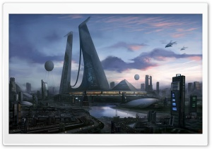 Futuristic City Art