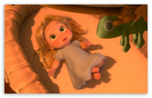 Download Tangled Baby Rapunzel UltraHD Wallpaper