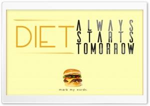 Diet starts.. Tomorrow
