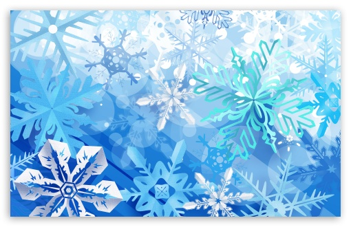 Download Beautiful Snowflakes New Year UltraHD Wallpaper