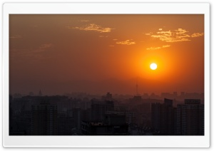 Beijing Orange Sunset