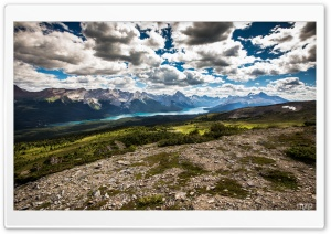 Maligne Lake view from Bald...