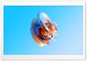 3D Colorful Glass Art, Blue...