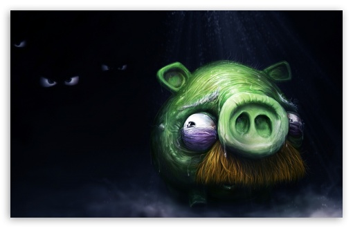Download Angry Birds Alone Pig UltraHD Wallpaper