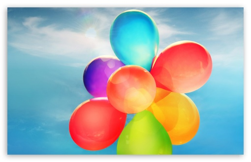 Download Colorful Balloons in the Sky UltraHD Wallpaper