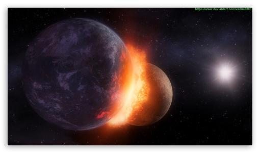 Download Comet Explosion UltraHD Wallpaper