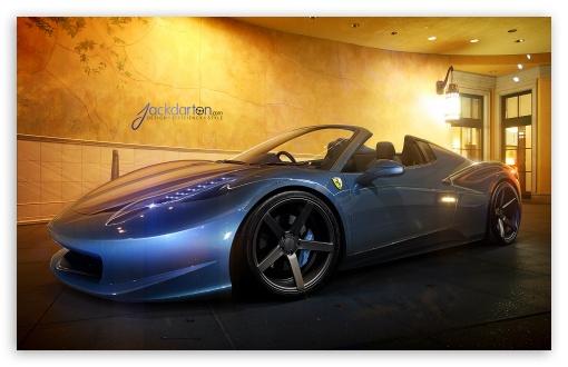Download Ferrari 458 Spider UltraHD Wallpaper