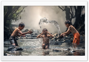 Kids Playing With Water