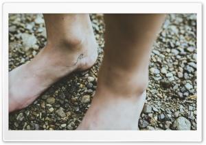 Bare Feet, Wave Tattoo, Ground