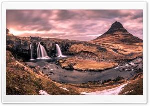 Kirkjufell mountain, Iceland,...