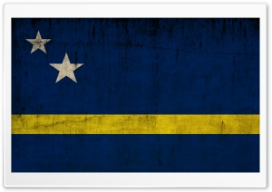 Grunge Flag Of Curacao