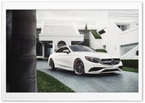Mercedes-Benz S63 White Car