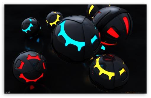 Download Colorful Balls 3D UltraHD Wallpaper