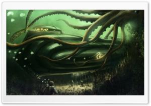 Submarine Underwater Painting