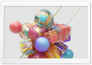 Colorful Abstract 3D Digital Art