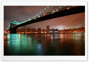 Brooklyn Bridge, New York at...