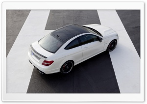Mercedes Benz C63 AMG Coupe Rear