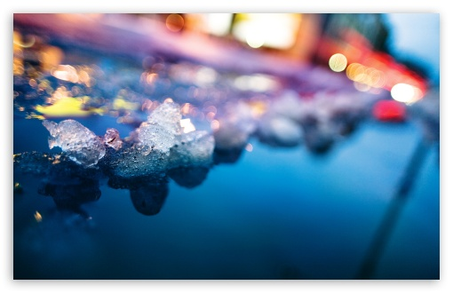 Download Ice And Colorful Lights UltraHD Wallpaper