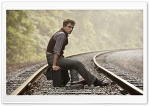 Robert Pattinson On Rail Track