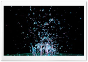 Water Drops Anti Gravity