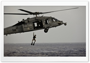An MH-60S Sea Hawk Helicopter...