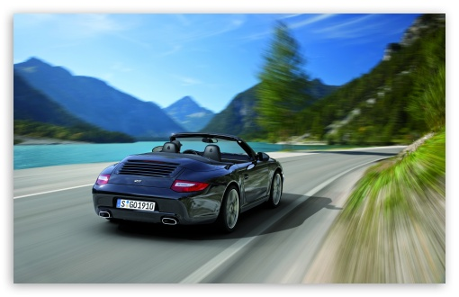 Download Porsche 911 Black Edition 2011 Rear UltraHD Wallpaper
