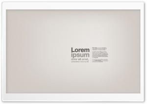 Lorem Ipsum Text