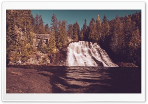 Vintage Waterfall Forest