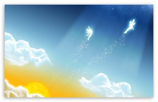 Download Angels In The Sky UltraHD Wallpaper