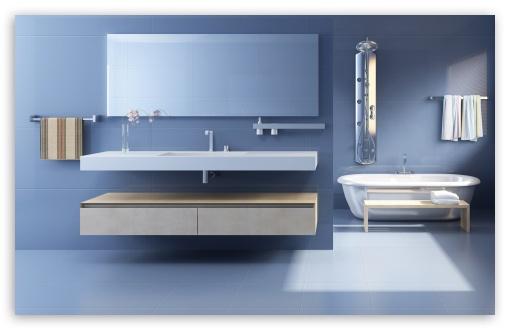 Download Minimalist Bathroom Design UltraHD Wallpaper