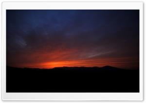 Orange Sunset Over Hachimantai