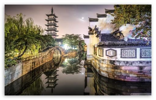 Download Nanxiang Ancient Town Shanghai, China UltraHD Wallpaper
