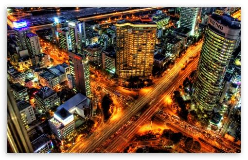 Download Rush Hour In Seoul, Korea UltraHD Wallpaper