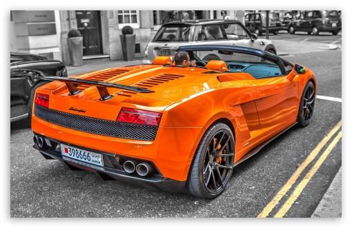 Download Lamborghini Convertible UltraHD Wallpaper