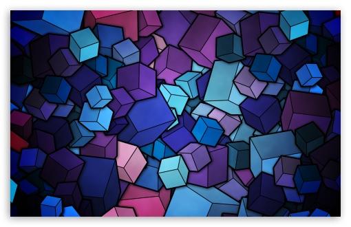 Download Blue Cubes UltraHD Wallpaper