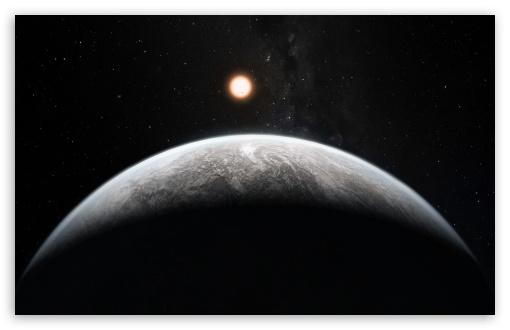 Download Planet In The Dark UltraHD Wallpaper