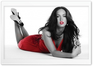 Megan Fox in Red Dress