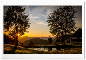 Mountain Sunset Scenery