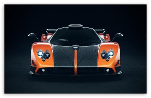 Download Pagani Zonda Cinque Orange UltraHD Wallpaper