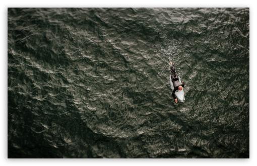 Download Surfer Guy, Surfboard, Ocean UltraHD Wallpaper
