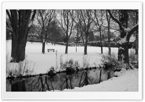 England Winter Black And White