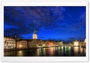 Zurich At Night, HDR