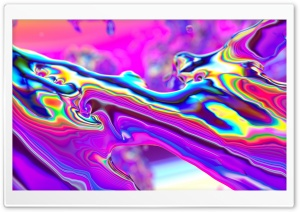 Abstract Iridescent Liquid Art