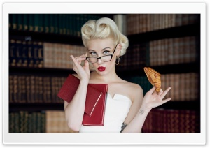 Woman, Library Books