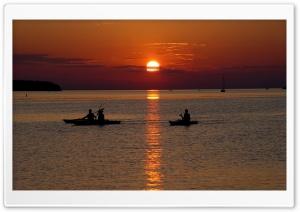 Beach Scene Sunset 3