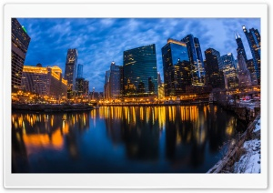 Wolf Point Chicago City Lights