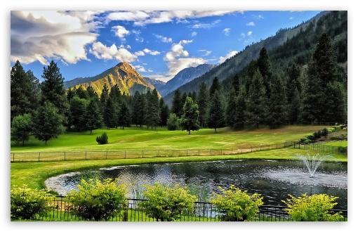 Download Mountain Pond UltraHD Wallpaper