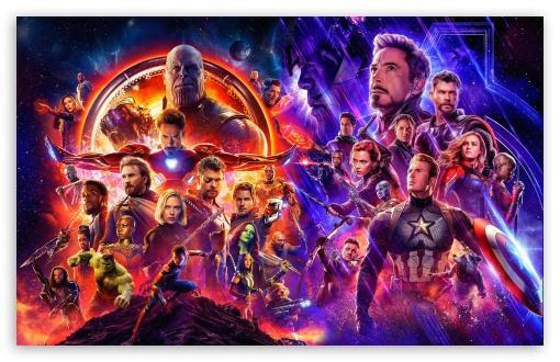 Download Endgame v Infinity War UltraHD Wallpaper