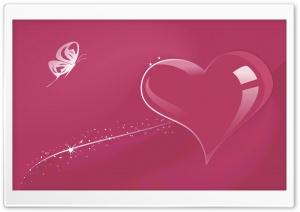 Glass Heart Pink